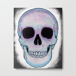 Winter Skull Metal Print