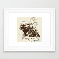 motorcycle Framed Art Prints featuring Motorcycle by Danilo De Donno