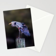 Blue Heron Yoga Stationery Cards
