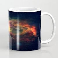 nebula Mugs featuring Orion NEbula Dark & Colorful by 2sweet4words Designs