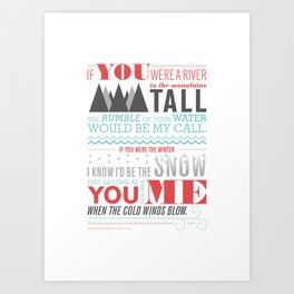 All I Want Is You - Pink Art Print