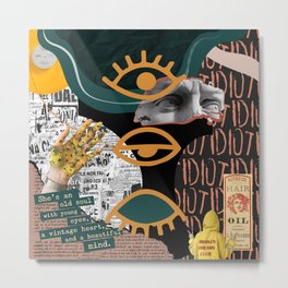 Broken Dreams Collage Metal Print
