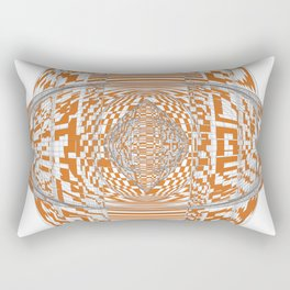 Longhorn Orange Rectangular Pillow