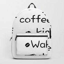 Coffee And Teach Kids Funny Teacher Gift Backpack