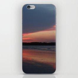 Sunset on the waterway iPhone Skin