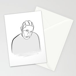 Kendrick Lamar portrait (black on white) Stationery Cards