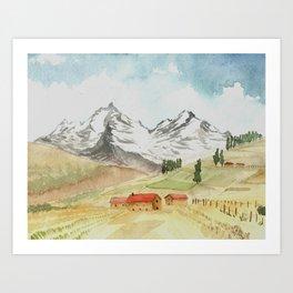 A Highland Village Art Print