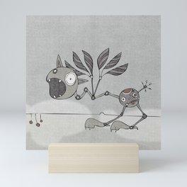Grey Shrieky Mini Art Print
