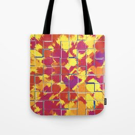 Squares Red & Yellow Abstract Tote Bag