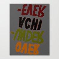 u2 Canvas Prints featuring o-u2 by gasponce