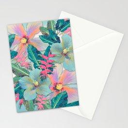 Aqua Ginger Alohas Stationery Cards