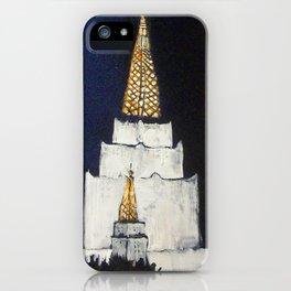 Oakland LDS Temple Tie iPhone Case