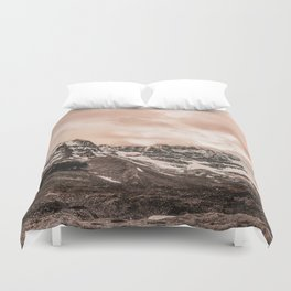 Blush Pink Mountain Duvet Cover
