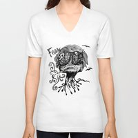 fear and loathing V-neck T-shirts featuring Fear & Loathing by Saravo Studio