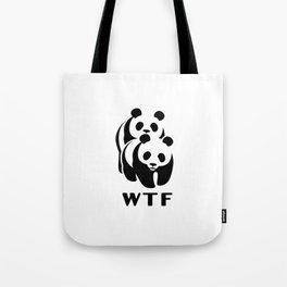 WWF parody panda Tote Bag