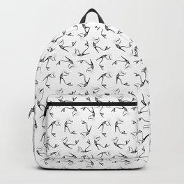 Black & White Stiletto High Heel Shoe Fashion Illustration Backpack