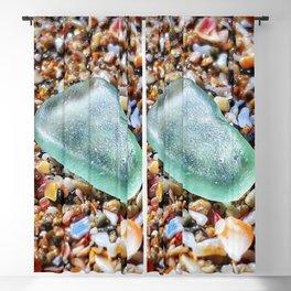 Sea Foam Sea Glass on Wet Seashells Blackout Curtain