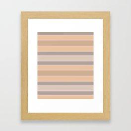 Beige, brown, grey stripes Framed Art Print