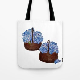 Two Baskets of Hydrangea Love Tote Bag