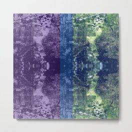 Faux Snakeskin Purple Metal Print