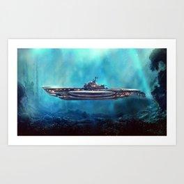 Pirate Submarine Art Print