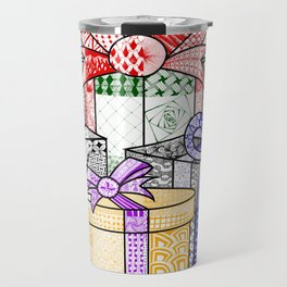 Coloured Christmas Presents Travel Mug