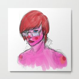Freckled Metal Print