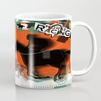 racing Mugs featuring Horse Racing by Robin Curtiss