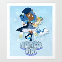 magical girl Art Prints featuring Magical Girl by Shadyfolk
