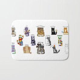 Science cats. History of great discoveries. Schrödinger cat, Einstein. Physics, chemistry etc Bath Mat