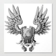 FF14 - Chocobo / materia coat of arms Canvas Print