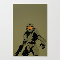 master chief Canvas Prints featuring Master Chief Redux by Anthony Bellus