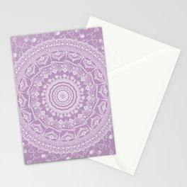 Secret garden mandala in pale lavender Stationery Cards