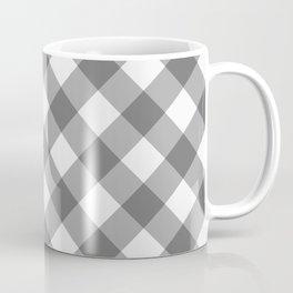Diagonal buffalo check grey Coffee Mug