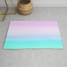 Touching Unicorn Girls Watercolor Abstract #1 #painting #decor #art #society6 Rug