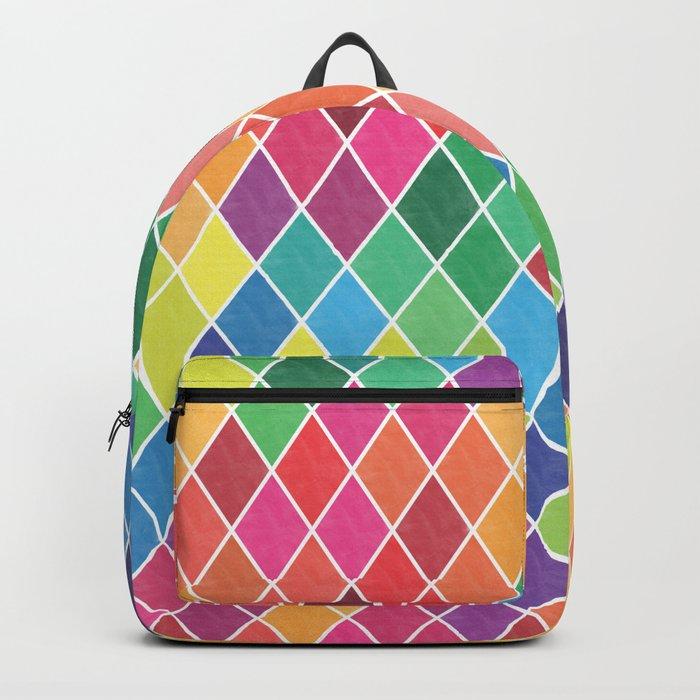 Watercolor Geometric Pattern II Backpack