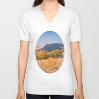 dune V-neck T-shirts featuring Autumn Sand Dune by Jessica Torres Photography