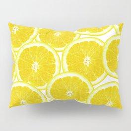 Summer Citrus Lemon Slices Pillow Sham