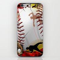 baseball iPhone & iPod Skins featuring Baseball by Robin Curtiss