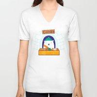 polar bear V-neck T-shirts featuring Polar Bear by Claire Lordon
