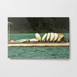 Boats on the Dock Metal Print