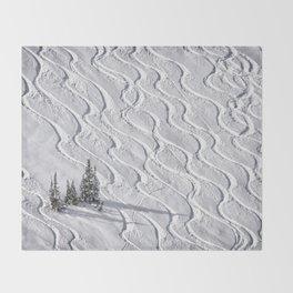 Powder tracks Throw Blanket