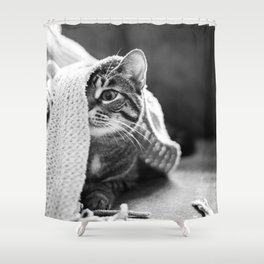 Peekaboo Kitty Shower Curtain