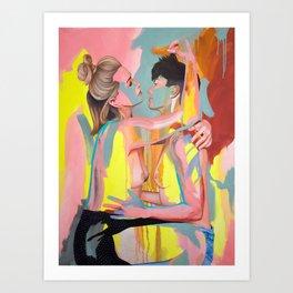 Christine and Michelle Art Print