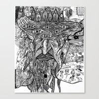 devil Canvas Prints featuring Devil by Sarah Bush
