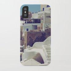 Streets of Santorini III iPhone X Slim Case