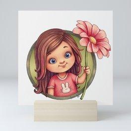 A flower for you Mini Art Print
