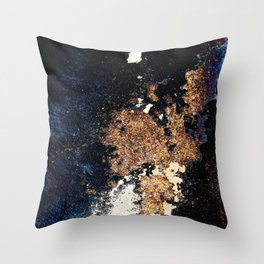 Alien Continents ruined wall texture grunge Throw Pillow