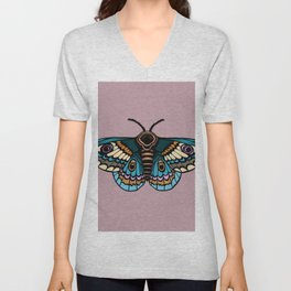 Moth Illustration Unisex V-Neck