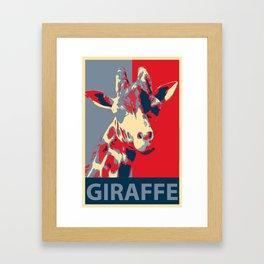 Giraffe for President Framed Art Print